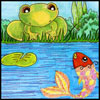 fish and frog
